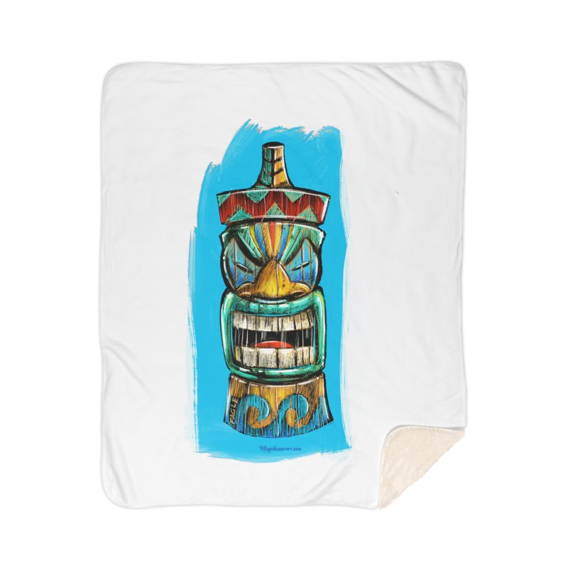 Ocean Wave Tiki Home Blanket by Magichammer Art By Russ Fagle Shop