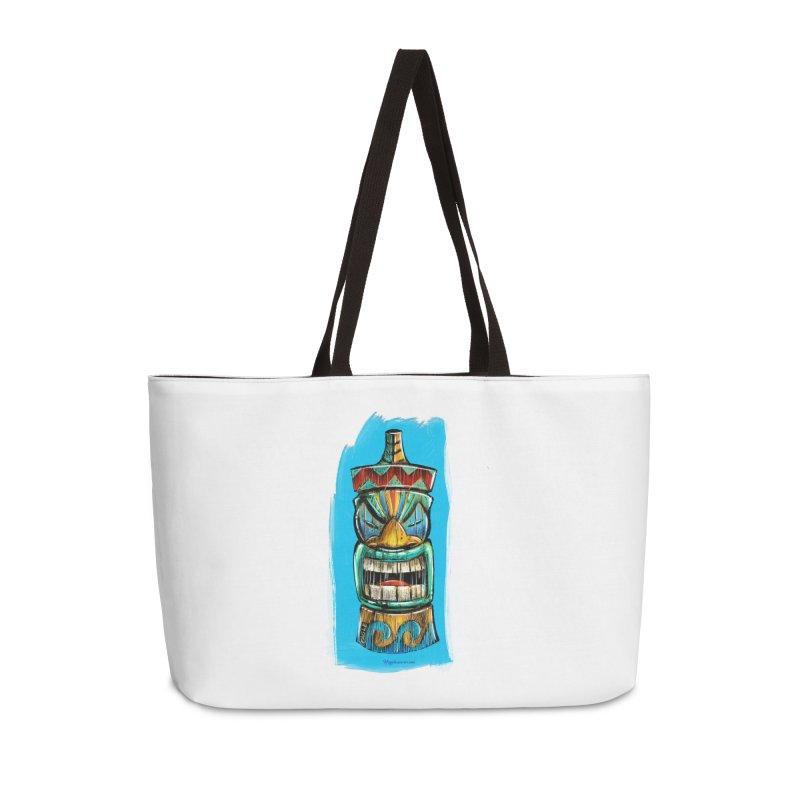 Ocean Wave Tiki Accessories Bag by Magichammer Art By Russ Fagle Shop