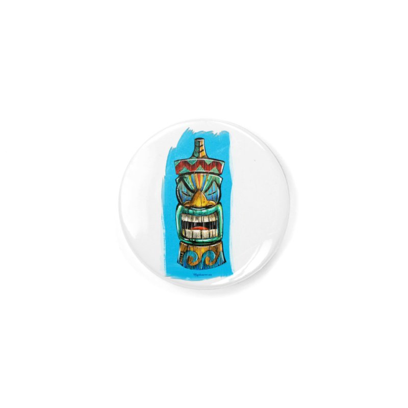 Ocean Wave Tiki Accessories Button by Magichammer Art By Russ Fagle Shop