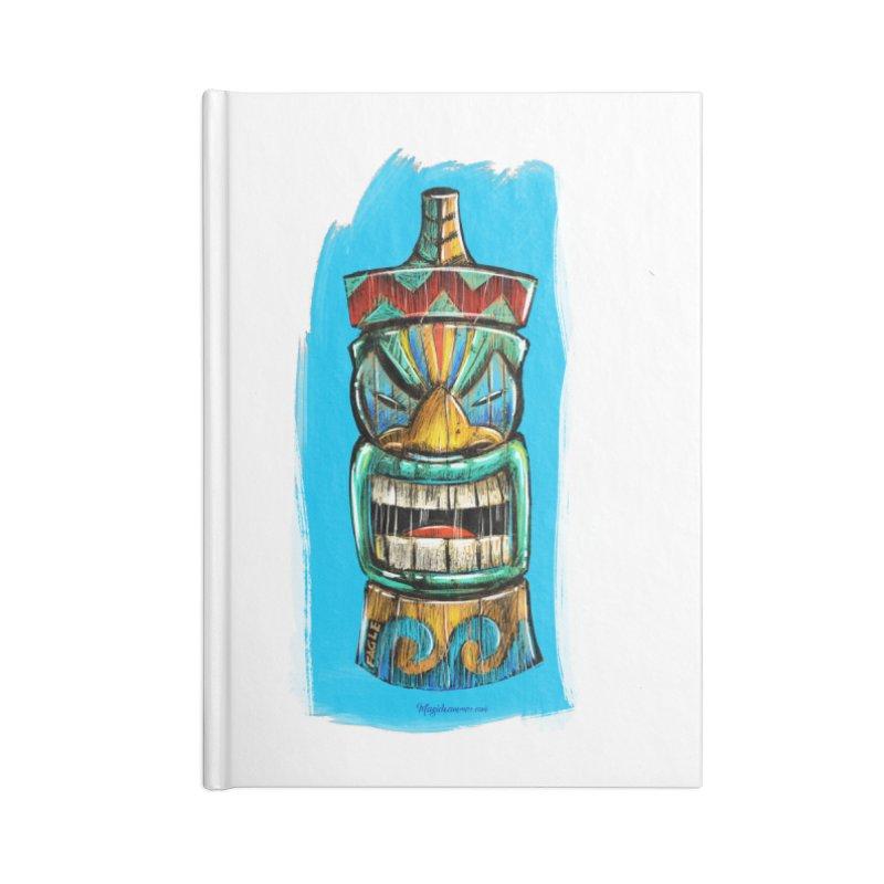 Ocean Wave Tiki Accessories Notebook by Magichammer Art By Russ Fagle Shop