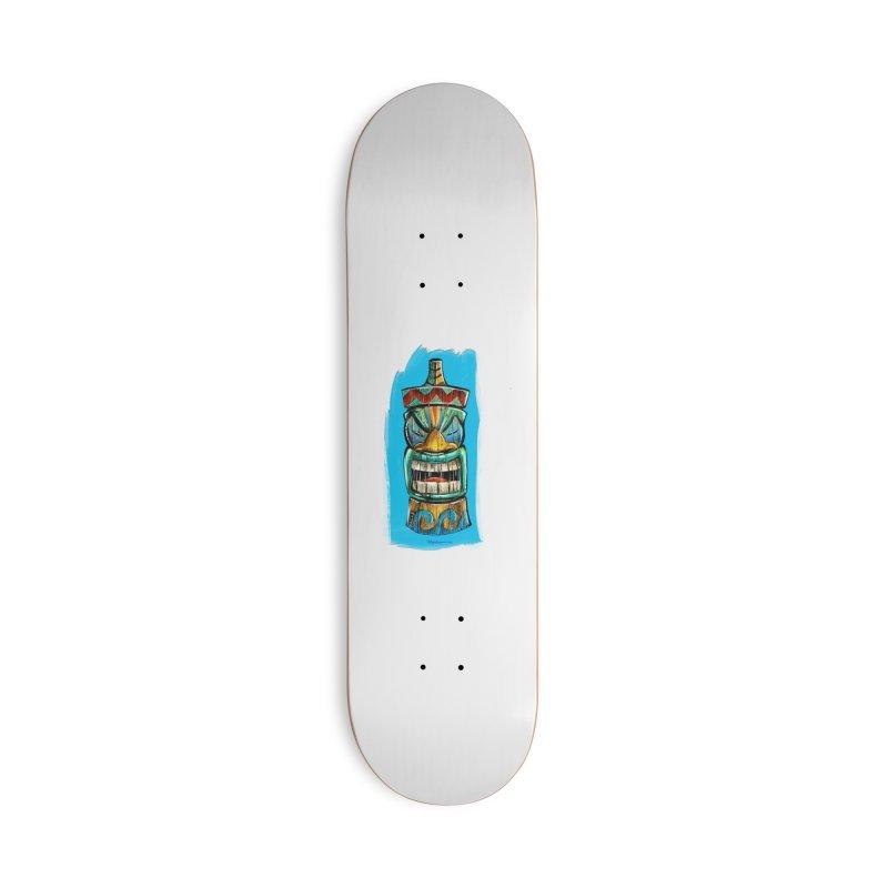 Ocean Wave Tiki Accessories Skateboard by Magichammer Art By Russ Fagle Shop