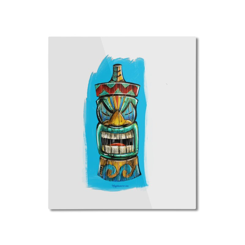 Ocean Wave Tiki Home Mounted Aluminum Print by Magichammer Art By Russ Fagle Shop