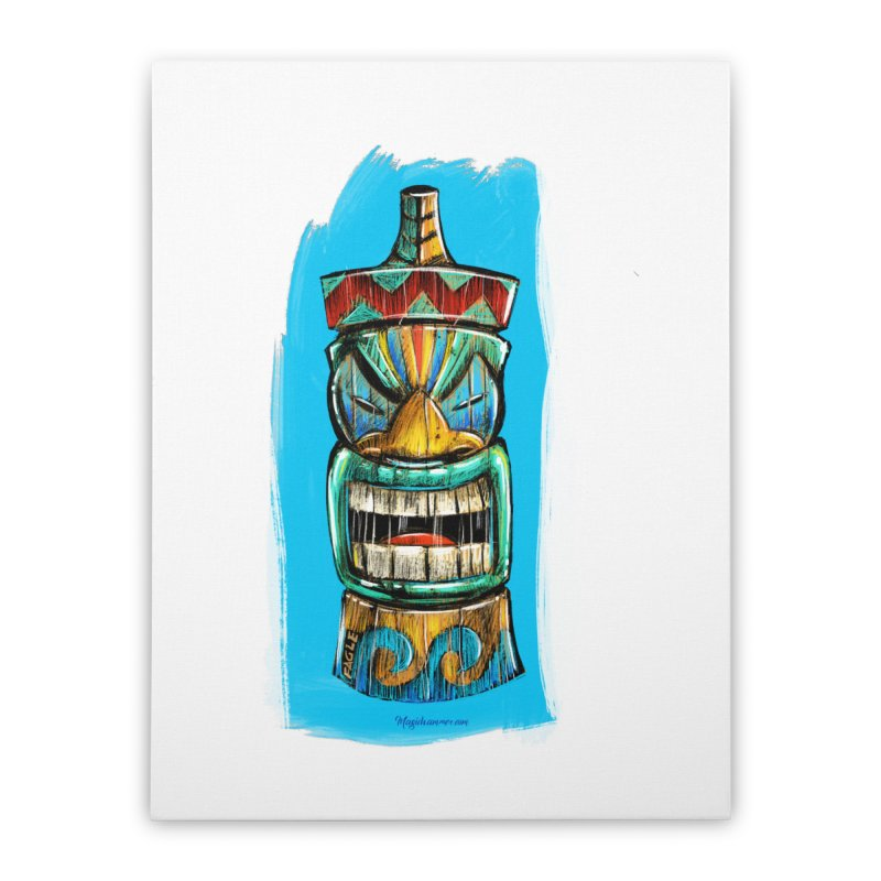 Ocean Wave Tiki Home Stretched Canvas by Magichammer Art By Russ Fagle Shop
