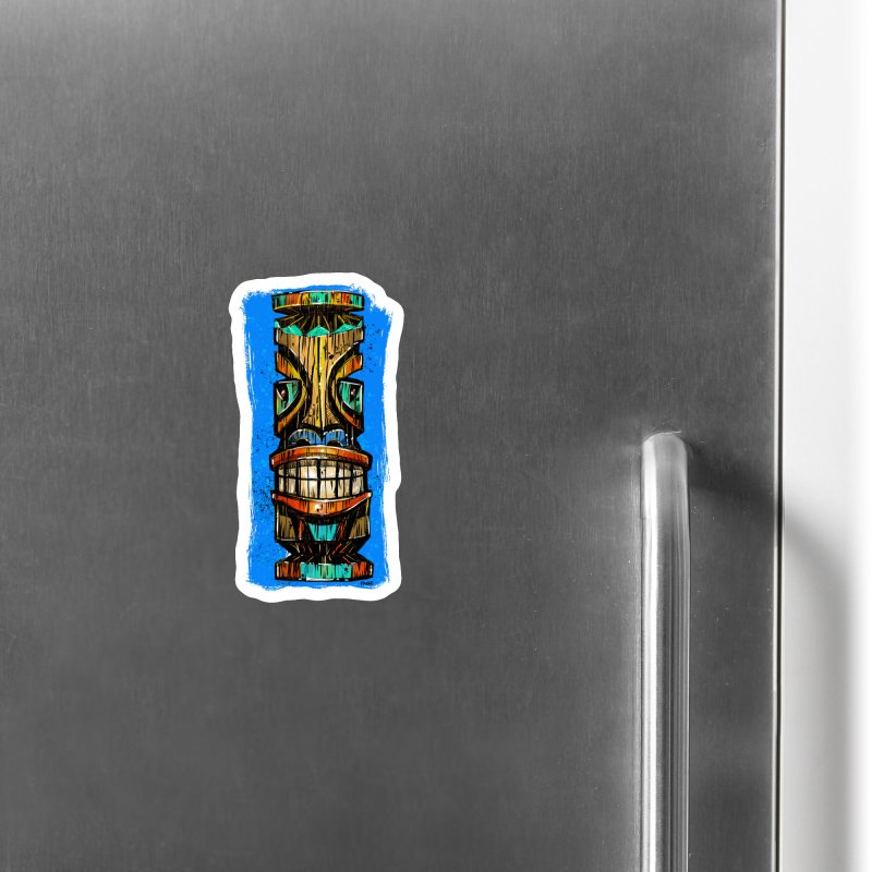 Teal Eye Tiki Accessories Magnet by Magichammer Art By Russ Fagle Shop