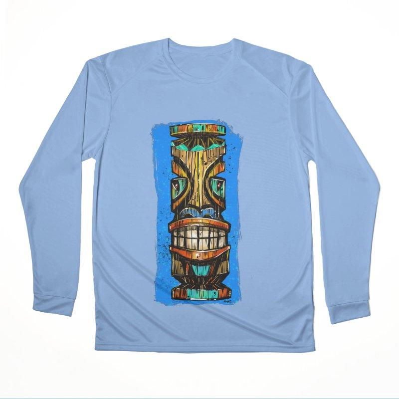 Teal Eye Tiki Men's Longsleeve T-Shirt by Magichammer Art By Russ Fagle Shop