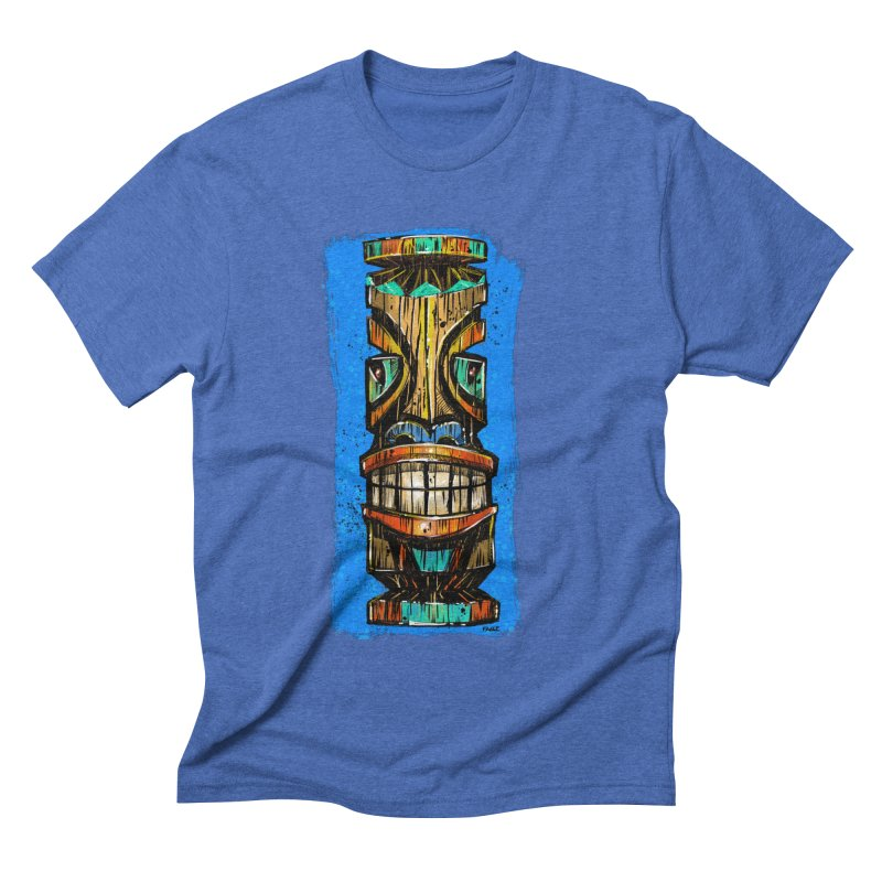 Teal Eye Tiki Men's T-Shirt by Magichammer Art By Russ Fagle Shop