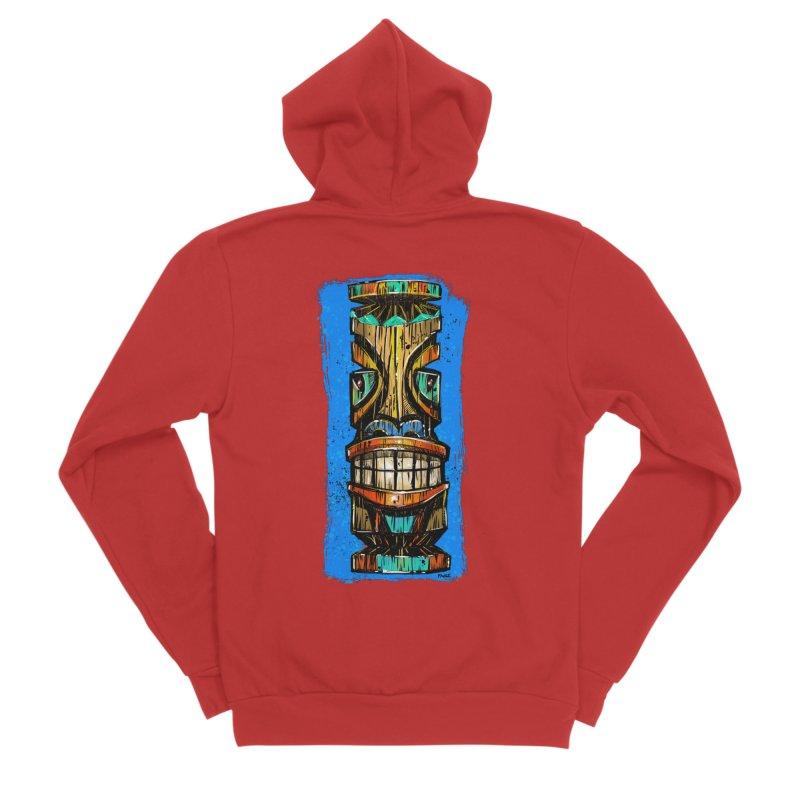 Teal Eye Tiki Women's Zip-Up Hoody by Magichammer Art By Russ Fagle Shop