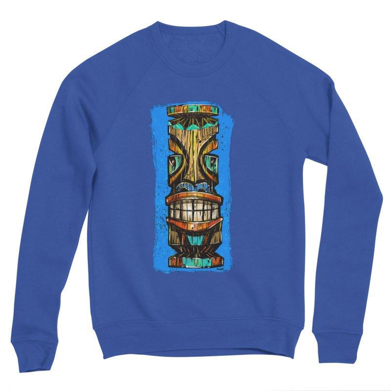 Teal Eye Tiki Women's Sweatshirt by Magichammer Art By Russ Fagle Shop
