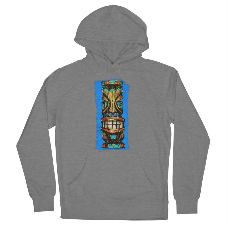 Teal Eye Tiki Men's Pullover Hoody by Magichammer Art By Russ Fagle Shop
