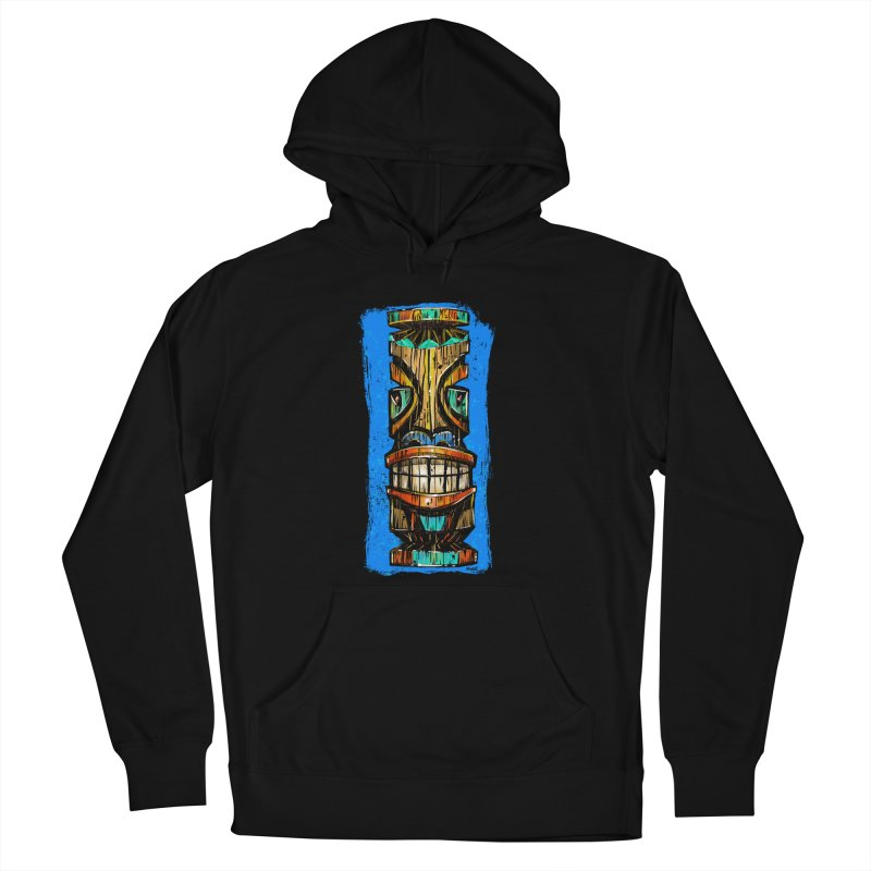 Teal Eye Tiki Women's Pullover Hoody by Magichammer Art By Russ Fagle Shop