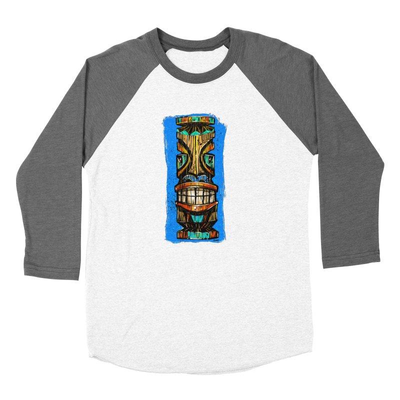 Teal Eye Tiki Women's Longsleeve T-Shirt by Magichammer Art By Russ Fagle Shop