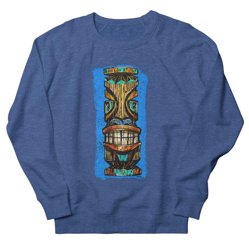Teal Eye Tiki Men's Sweatshirt by Magichammer Art By Russ Fagle Shop