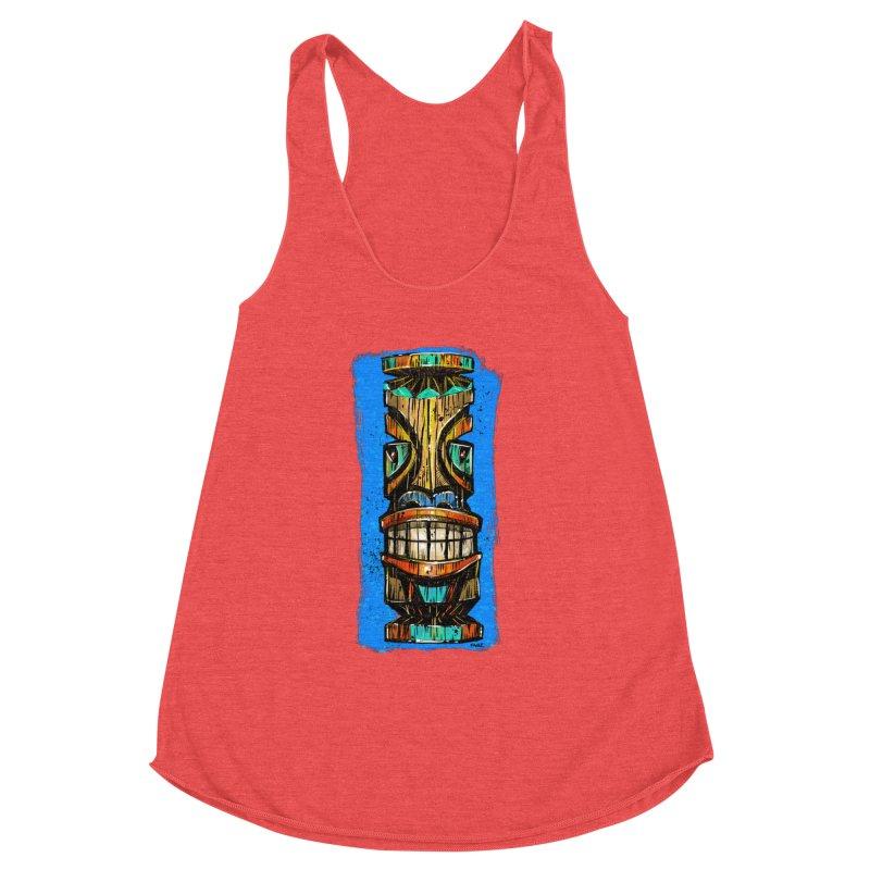 Teal Eye Tiki Women's Tank by Magichammer Art By Russ Fagle Shop