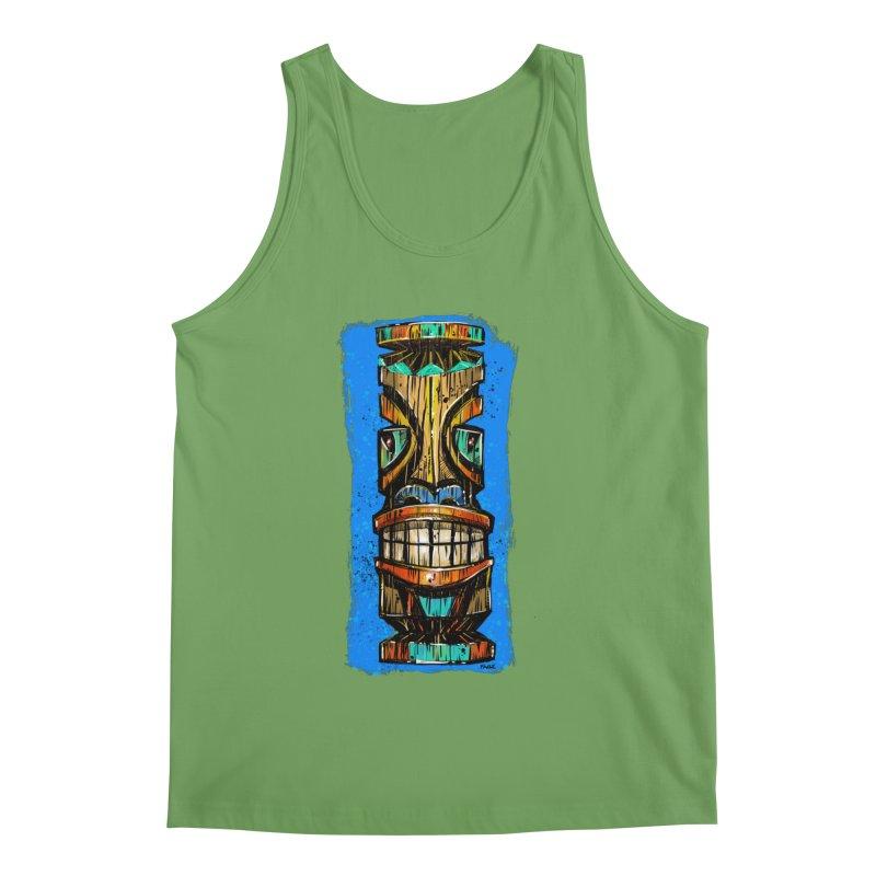 Teal Eye Tiki Men's Tank by Magichammer Art By Russ Fagle Shop