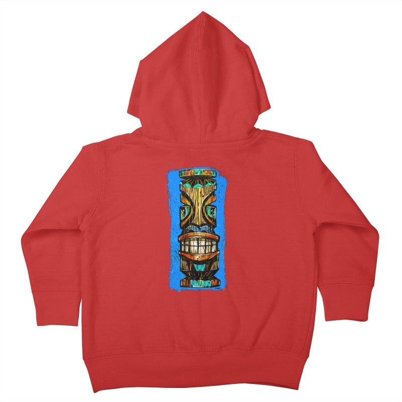 Teal Eye Tiki Kids Toddler Zip-Up Hoody by Magichammer Art By Russ Fagle Shop
