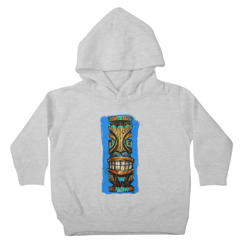 Teal Eye Tiki Kids Toddler Pullover Hoody by Magichammer Art By Russ Fagle Shop
