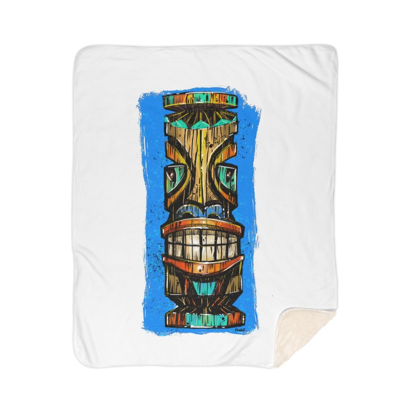 Teal Eye Tiki Home Blanket by Magichammer Art By Russ Fagle Shop