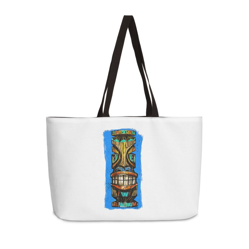 Teal Eye Tiki Accessories Bag by Magichammer Art By Russ Fagle Shop