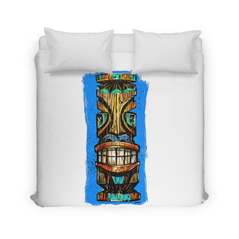 Teal Eye Tiki Home Duvet by Magichammer Art By Russ Fagle Shop