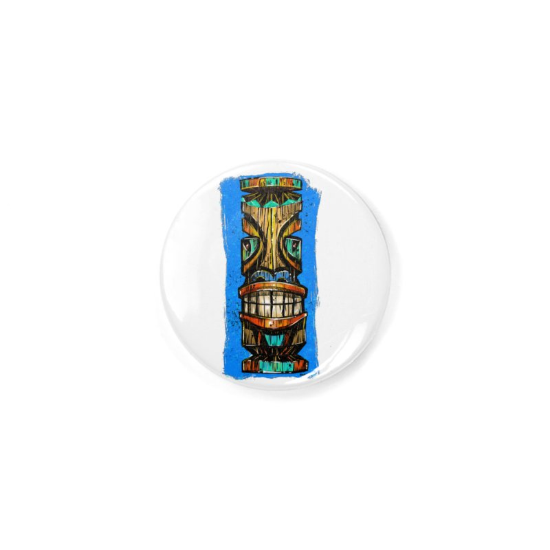 Teal Eye Tiki Accessories Button by Magichammer Art By Russ Fagle Shop