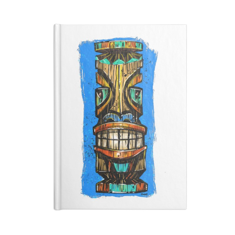 Teal Eye Tiki Accessories Notebook by Magichammer Art By Russ Fagle Shop
