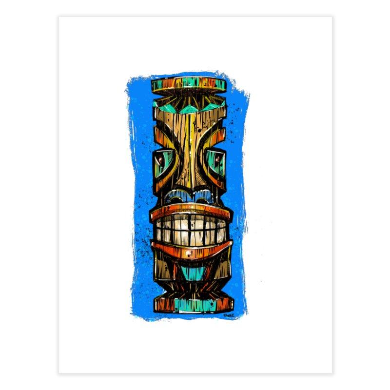 Teal Eye Tiki Home Fine Art Print by Magichammer Art By Russ Fagle Shop
