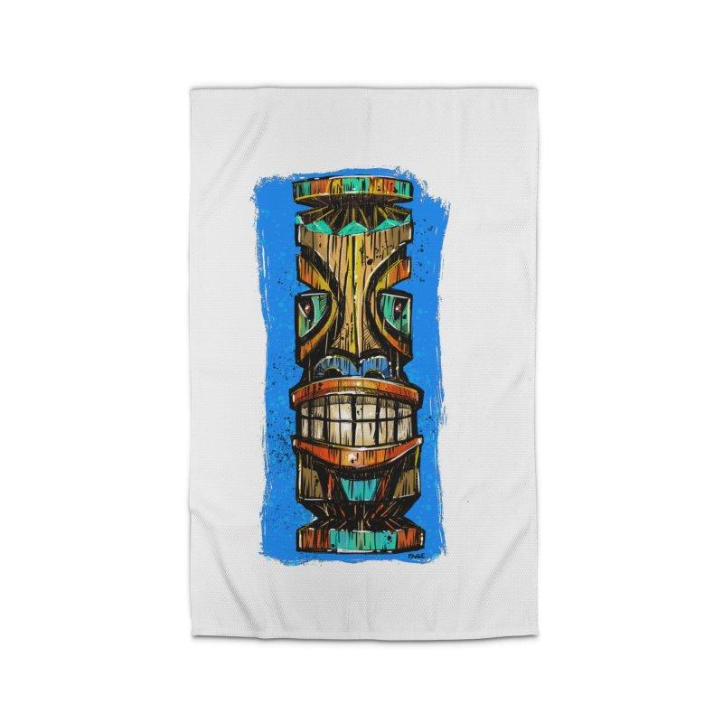 Teal Eye Tiki Home Rug by Magichammer Art By Russ Fagle Shop