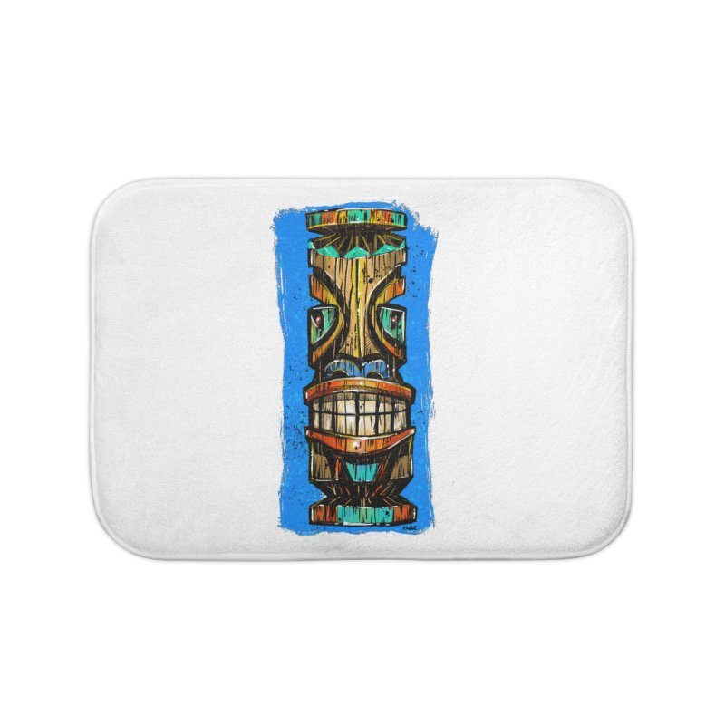 Teal Eye Tiki Home Bath Mat by Magichammer Art By Russ Fagle Shop