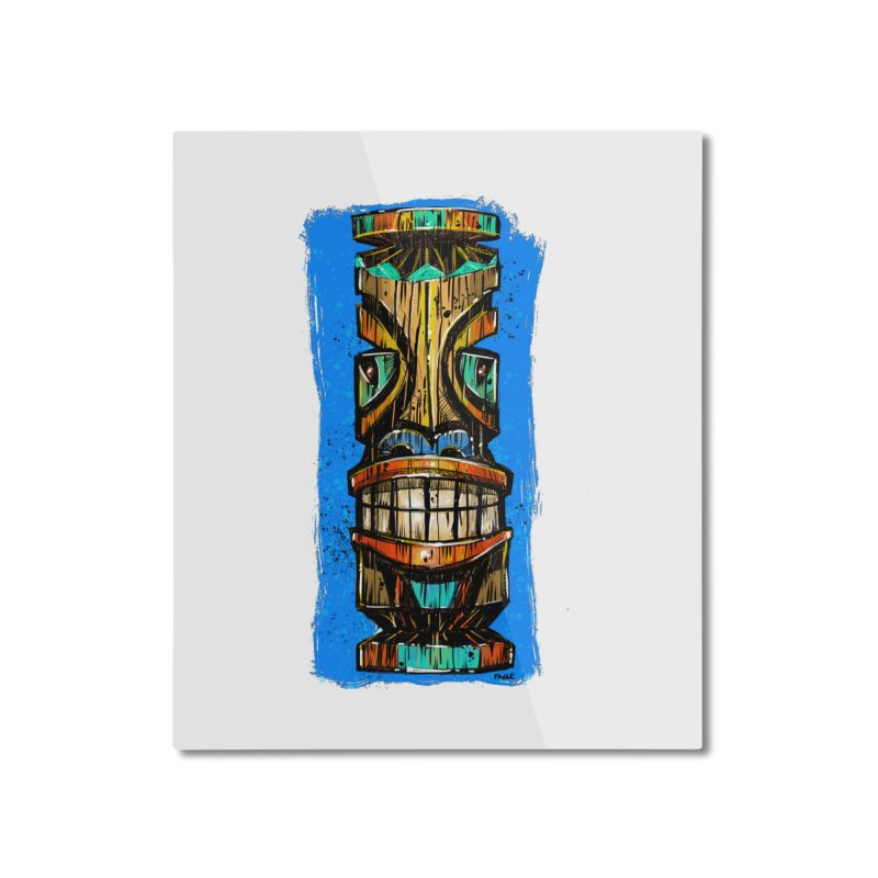 Teal Eye Tiki Home Mounted Aluminum Print by Magichammer Art By Russ Fagle Shop
