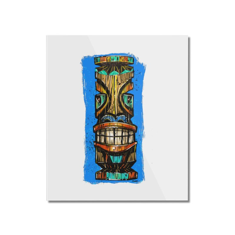 Teal Eye Tiki Home Mounted Acrylic Print by Magichammer Art By Russ Fagle Shop