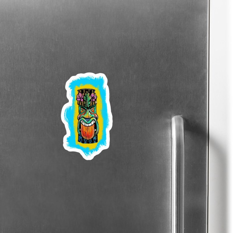 Tongue Tiki Accessories Magnet by Magichammer Art By Russ Fagle Shop