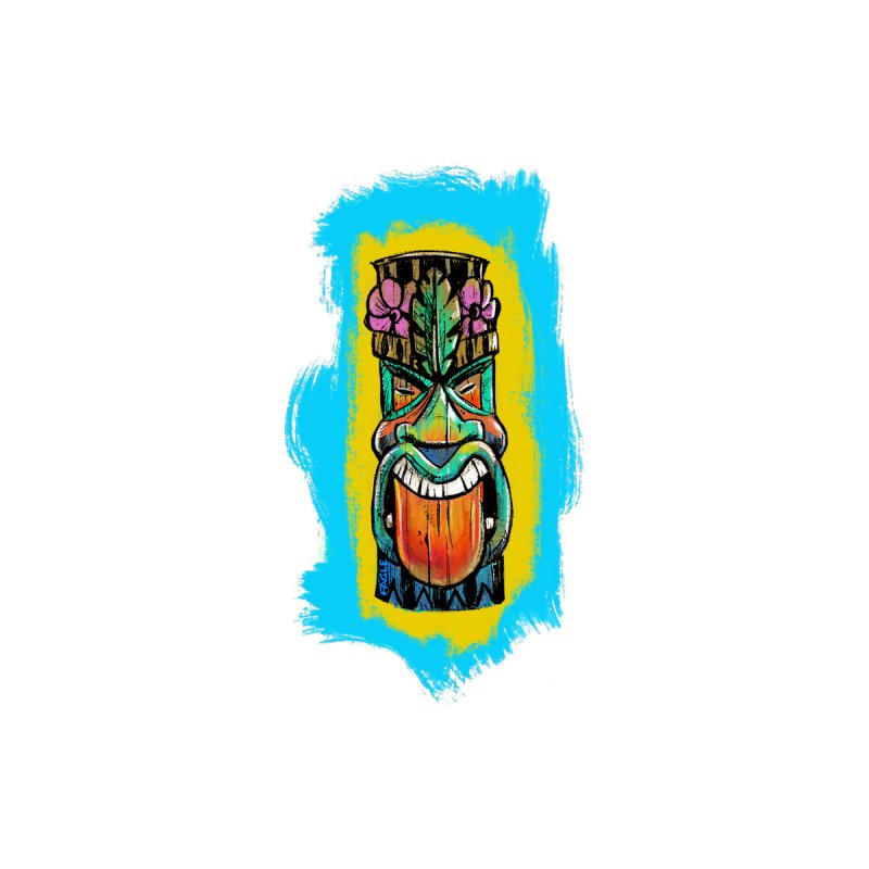 Tongue Tiki Home Stretched Canvas by Magichammer Art By Russ Fagle Shop
