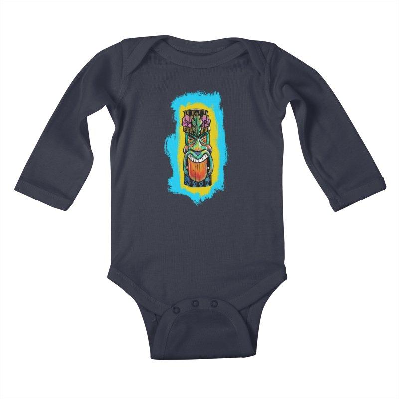 Tongue Tiki Kids Baby Longsleeve Bodysuit by Magichammer Art By Russ Fagle Shop