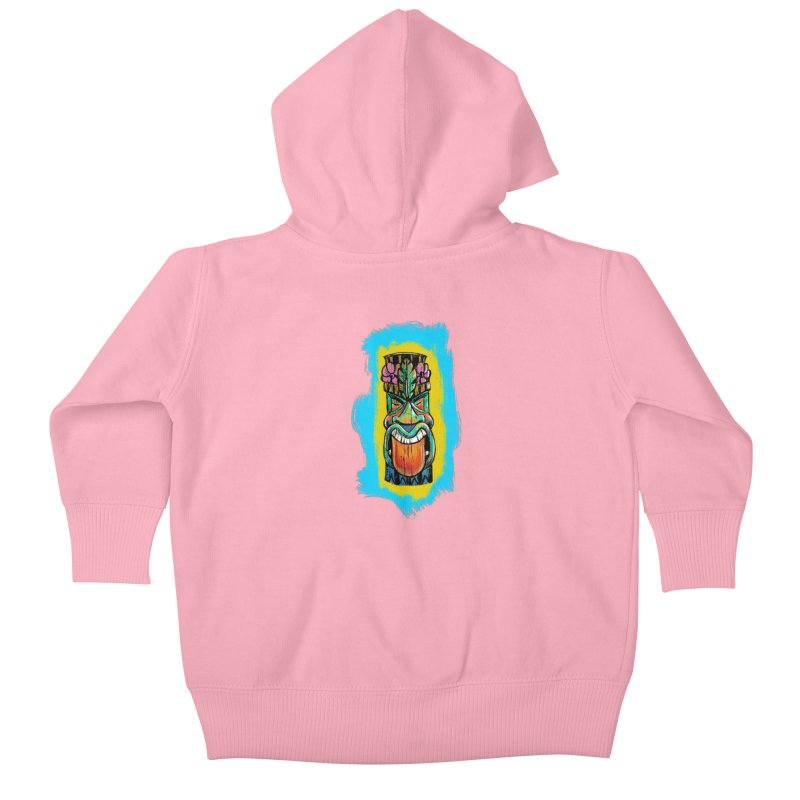 Tongue Tiki Kids Baby Zip-Up Hoody by Magichammer Art By Russ Fagle Shop