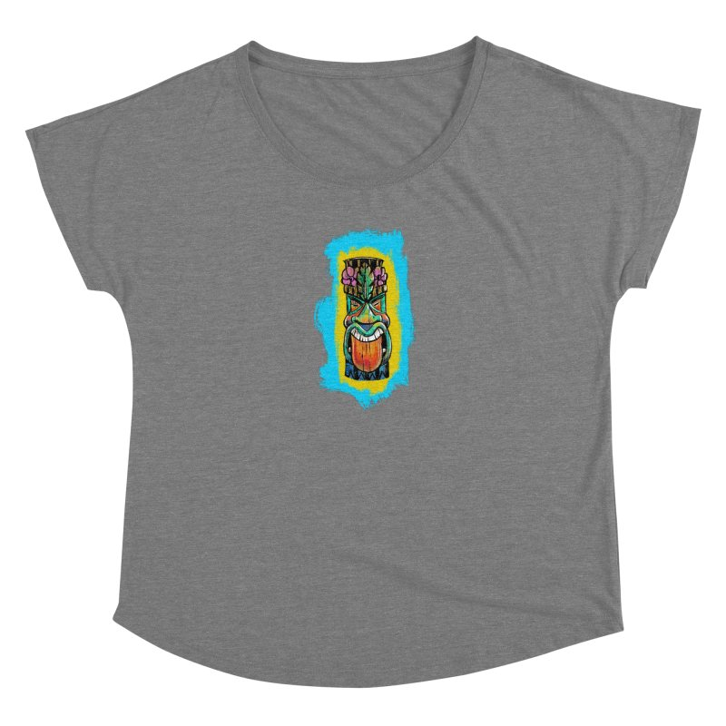 Tongue Tiki Women's Scoop Neck by Magichammer Art By Russ Fagle Shop