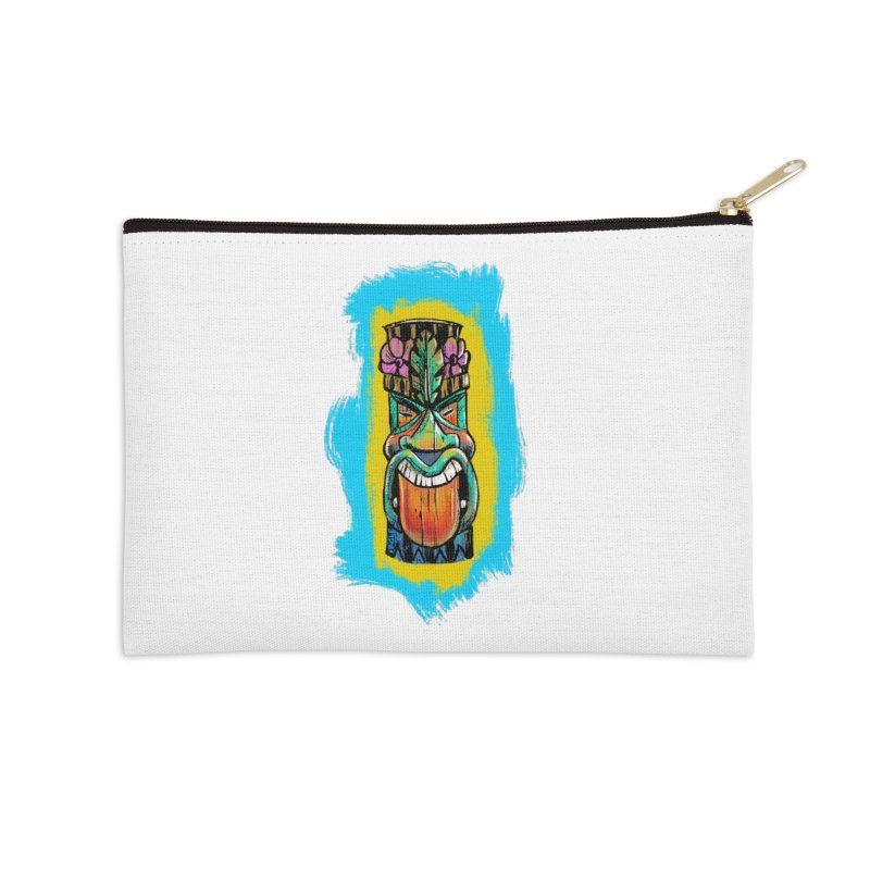 Tongue Tiki Accessories Zip Pouch by Magichammer Art By Russ Fagle Shop