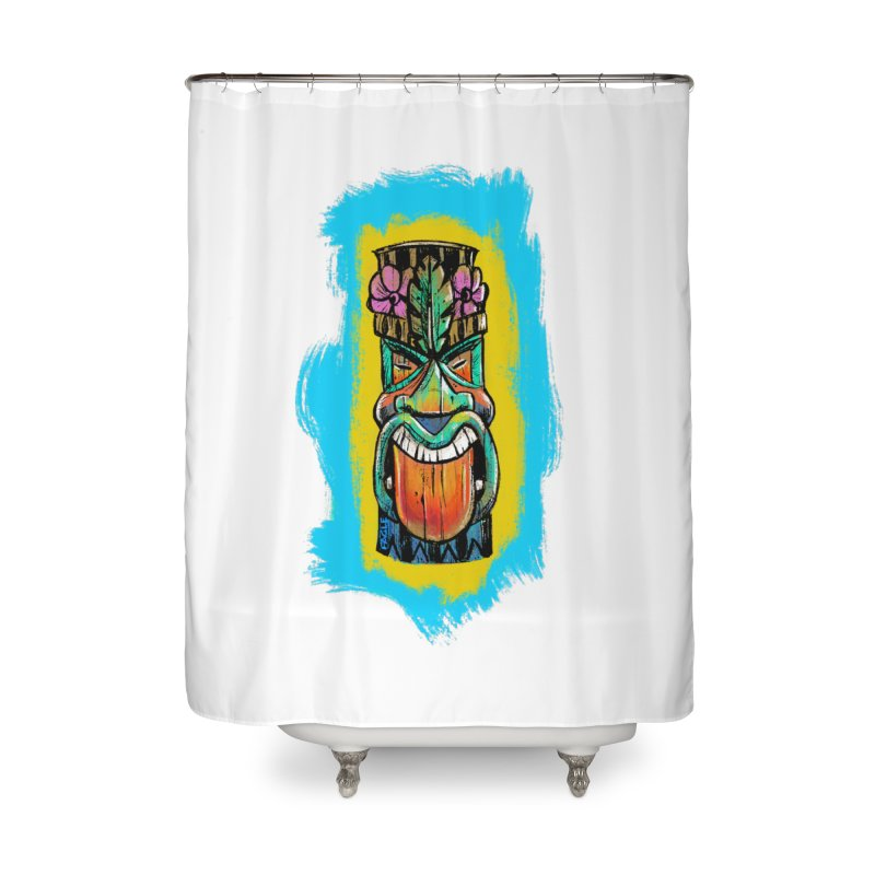 Tongue Tiki Home Shower Curtain by Magichammer Art By Russ Fagle Shop