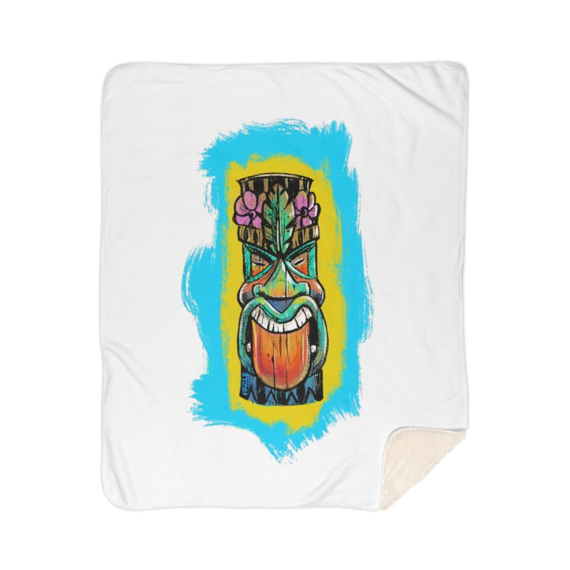 Tongue Tiki Home Blanket by Magichammer Art By Russ Fagle Shop