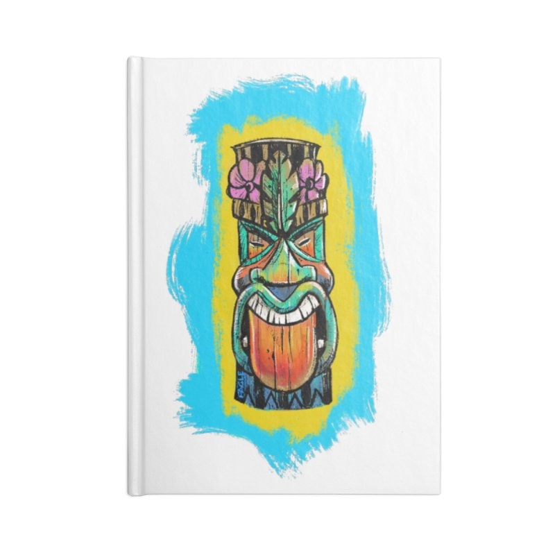 Tongue Tiki Accessories Notebook by Magichammer Art By Russ Fagle Shop