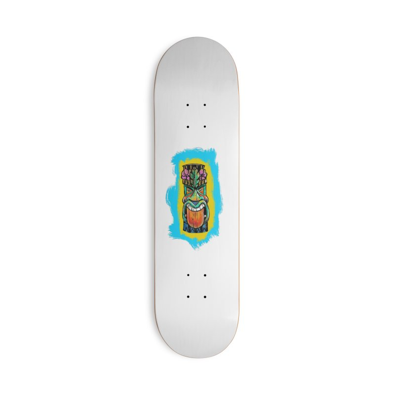 Tongue Tiki Accessories Skateboard by Magichammer Art By Russ Fagle Shop