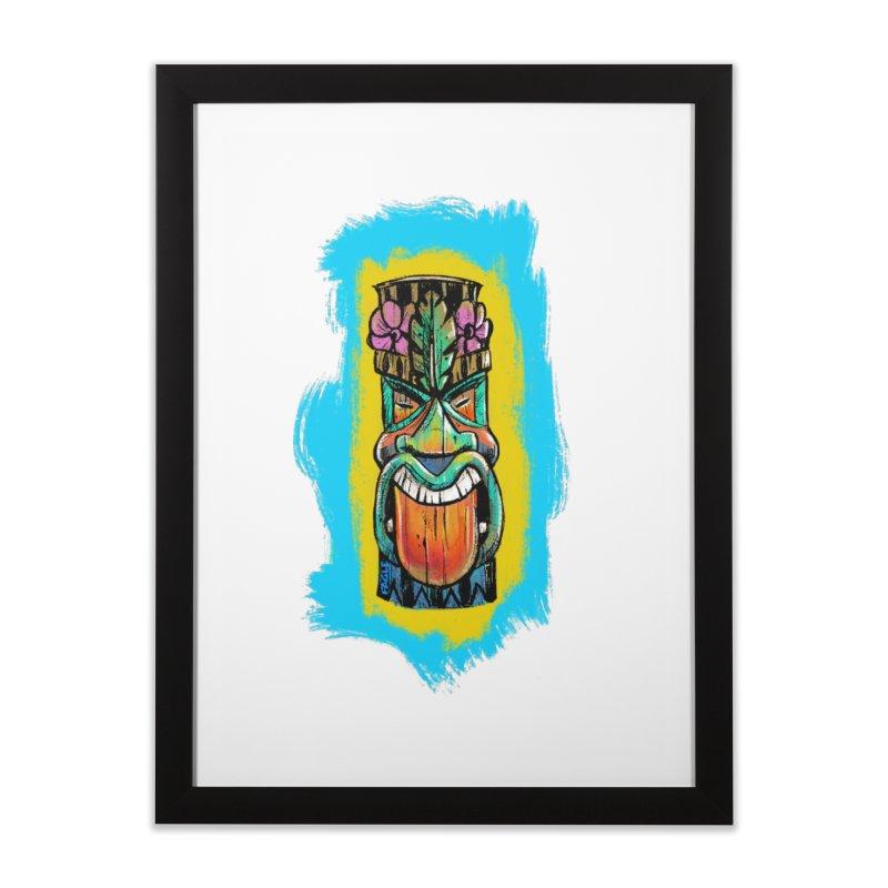 Tongue Tiki Home Framed Fine Art Print by Magichammer Art By Russ Fagle Shop