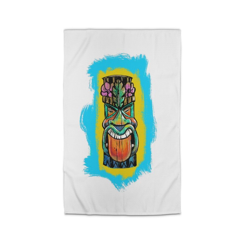 Tongue Tiki Home Rug by Magichammer Art By Russ Fagle Shop