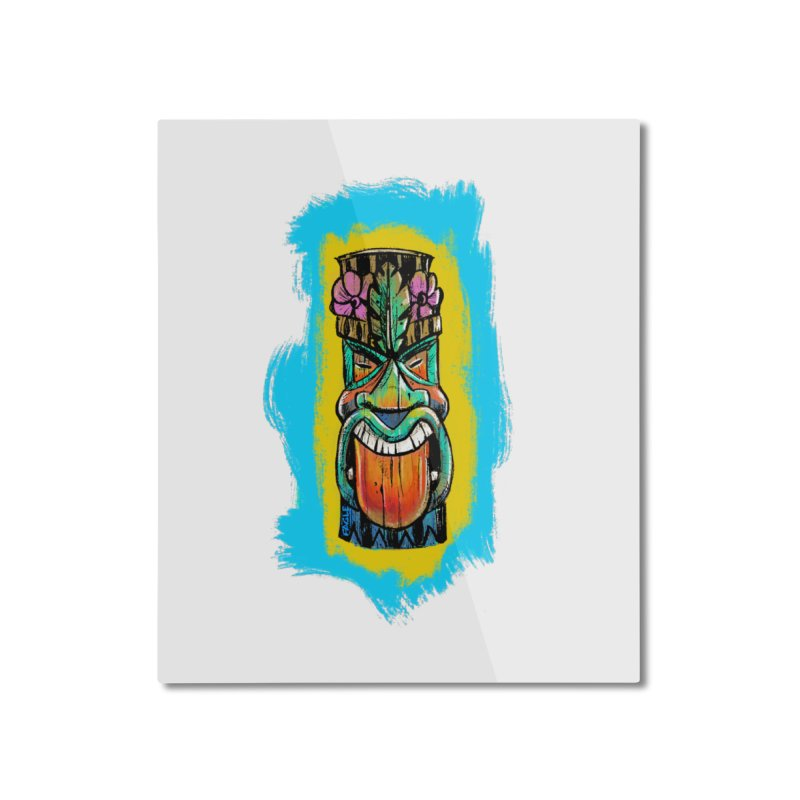 Tongue Tiki Home Mounted Aluminum Print by Magichammer Art By Russ Fagle Shop
