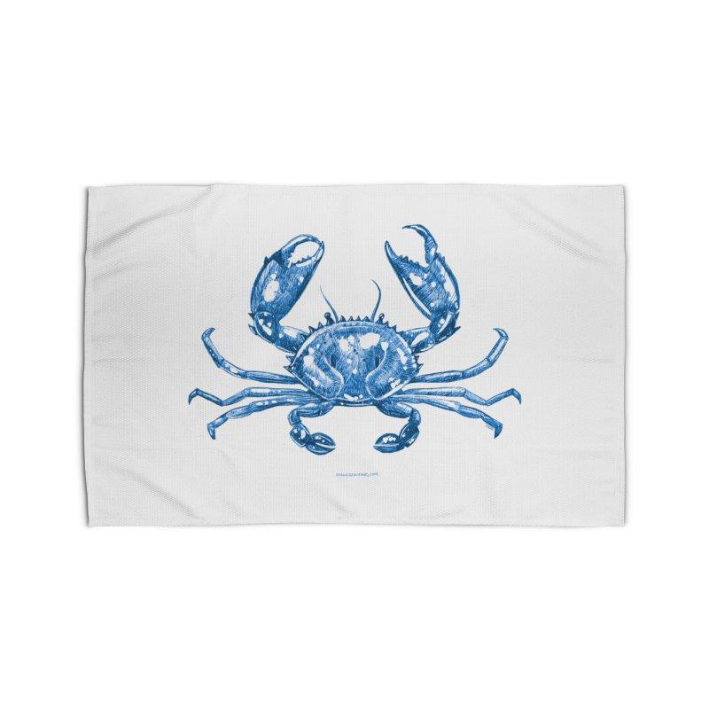 Blue Line Art Crab Home Rug by Magichammer Art By Russ Fagle Shop