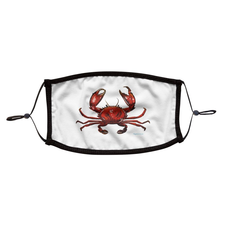 Red Crab Accessories Face Mask by Magichammer Art By Russ Fagle Shop