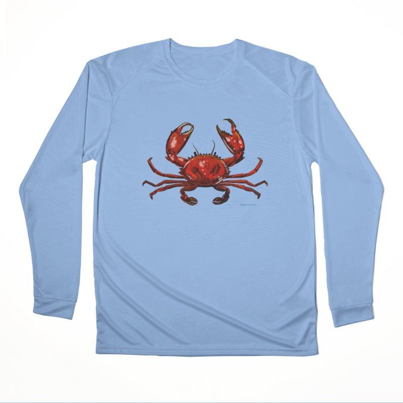 Red Crab Men's Longsleeve T-Shirt by Magichammer Art By Russ Fagle Shop