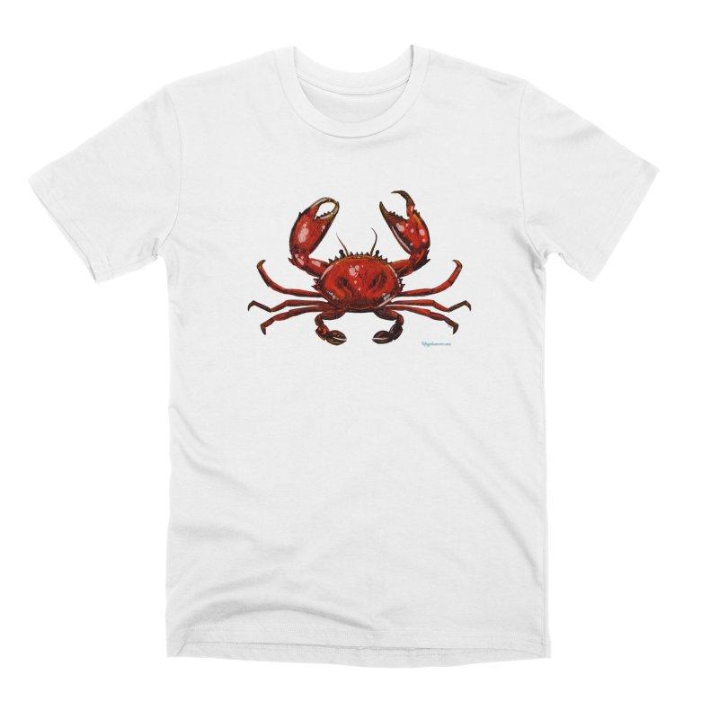 Red Crab Men's T-Shirt by Magichammer Art By Russ Fagle Shop
