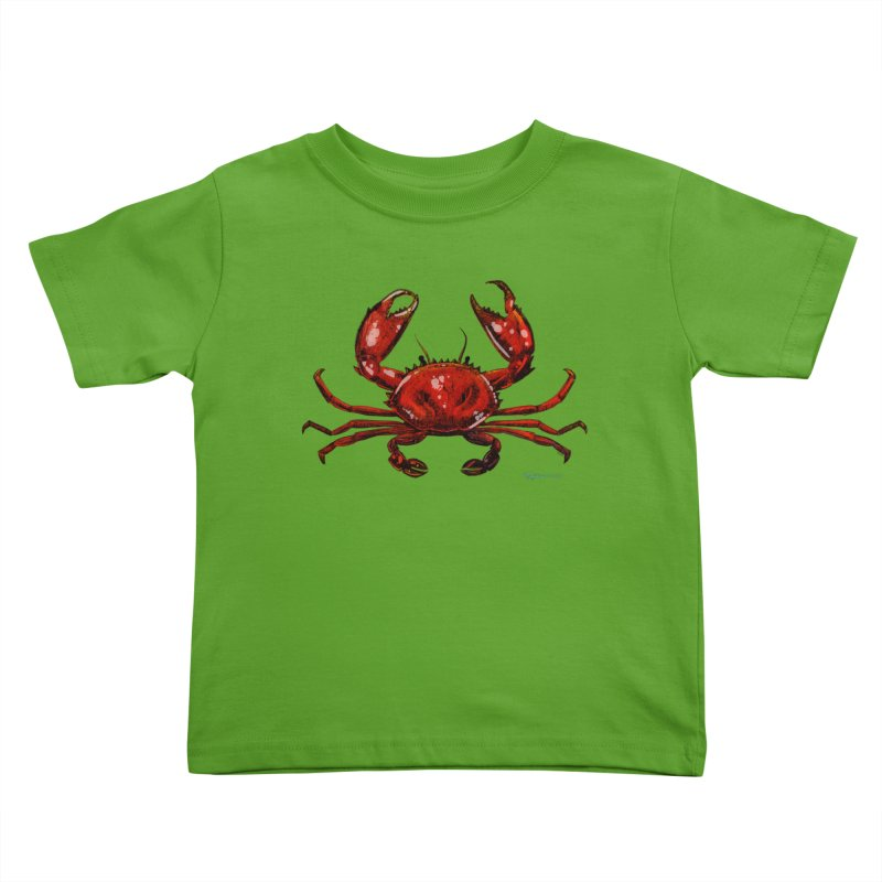Red Crab Kids Toddler T-Shirt by Magichammer Art By Russ Fagle Shop