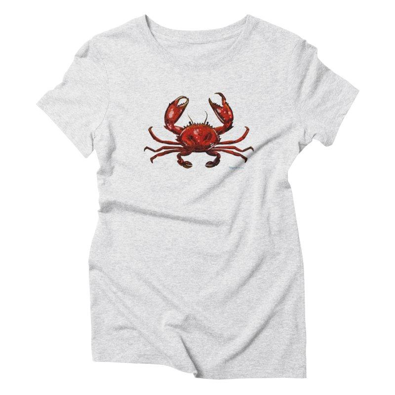 Red Crab Women's T-Shirt by Magichammer Art By Russ Fagle Shop