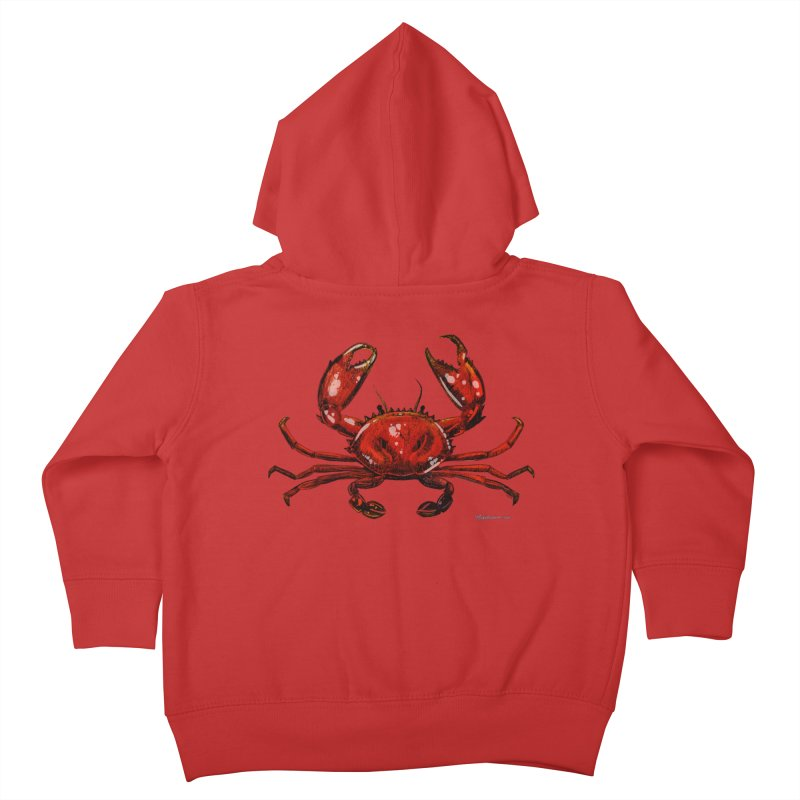 Red Crab Kids Toddler Zip-Up Hoody by Magichammer Art By Russ Fagle Shop